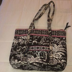 Imperial Toile Zippered Tote
